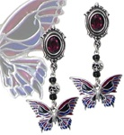 Alchemy Death's-Head Butterfly Studs