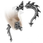 Alchemy Tor Dragon Faux Stretcher Earring