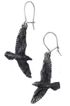 Alchemy Black Raven earrings