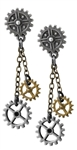 Alchemy Machine Head Earrings - Pair