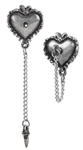 Alchemy Witches Heart Ear Studs