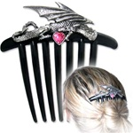 Heart of the Dragon Hair Comb