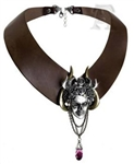 Alchemy Apate's Duplicity Leather Choker
