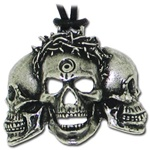 Six Feet Under 3 Skulls Pendant