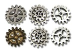 Alchemy Gearwheel Buttons - small
