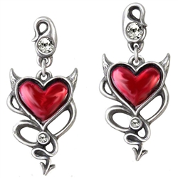 Alchemy UL17 Devil Heart Earrings