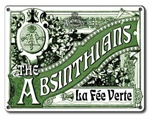 The Absinthians - Metal Plaque