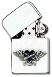 Black Heart Petrol Lighter