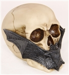 Skull with Bat Face Mask