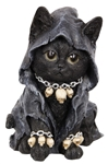 Goth Witch Cat Statue
