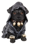 Goth Witch Dog Statue