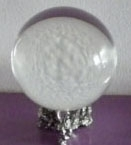 Huge 110mm Crystal Ball with pentagram stand