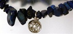 semi precious gemstone chip bracelet with ankh