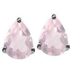 faceted pear shaped gemstone stud earrings