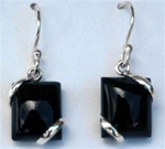 modern square gemstone earrings