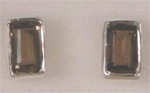 faceted rectangle gemstone stud earrings