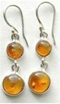 double circle gemstone earrings