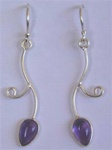 sterling vine drop gemstone earrings