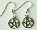 sterling pentagram earrings