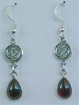 sterling celtic knot and gemstone earrings