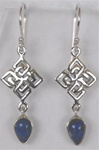 sterling chinese knot and gemstone earrings