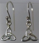 sterling triquetra earrings