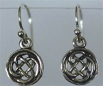 sterling celtic round knot earrings