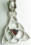 sterling triquetra with stone