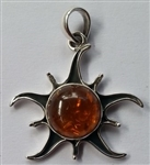 Sun Pendant with gemstones