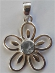 Flower Pendant with faceted gemstones