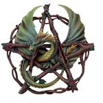 Anne Stokes Forest Pentagram Plaque