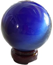 Large Spun Glass Crystal Ball