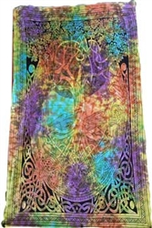 Coloured Celtic Tree Tapestry