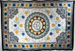 Flowers and Triquetra Tapestry
