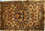 Earth Brown Pentagram Tapestry
