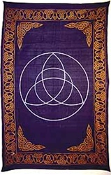 Black and Gold Triquetra Tapestry