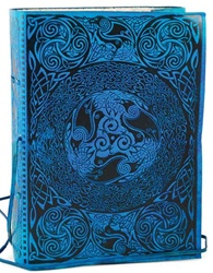 Blue Celtic Leather bound journal