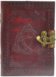 Triquetra Leather lined journal