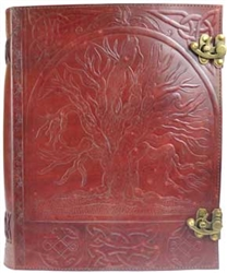 Tree Leather lined journal