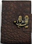 Brown Dragon leather journal small