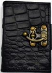 Black Dragon leather journal small