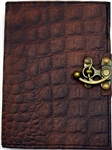 Brown Dragon leather journal medium
