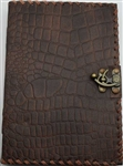 Brown Dragon leather journal large