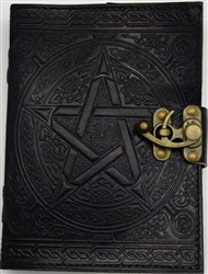 Black Pentagram leather journal