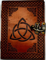 Triquetra leather journal