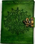 Tree Circle leather journal