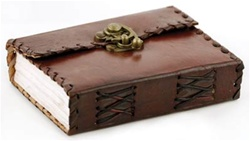 Small Latched Leather bound journal