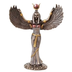 Copper Winged Isis Statue