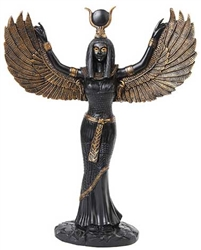Gold Winged Isis Statue