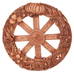 Pagan Wheel of the Year plaque